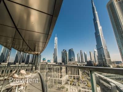 شقة فندقية 2 غرفة نوم للبيع في وسط مدينة دبي، دبي - Serviced Property| Burj Khalifa View |Best Priced