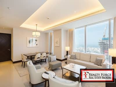 فلیٹ 2 غرفة نوم للبيع في وسط مدينة دبي، دبي - FULLY SERVICED | BURJ & SEA VIEW | TOWER 2