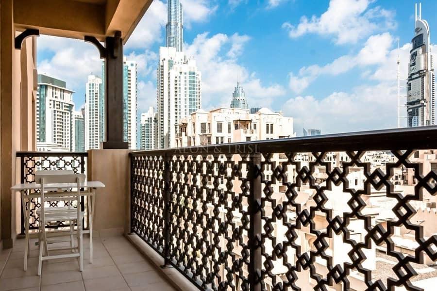2 Elegantly Furnished | Partial Burj Khalifa View