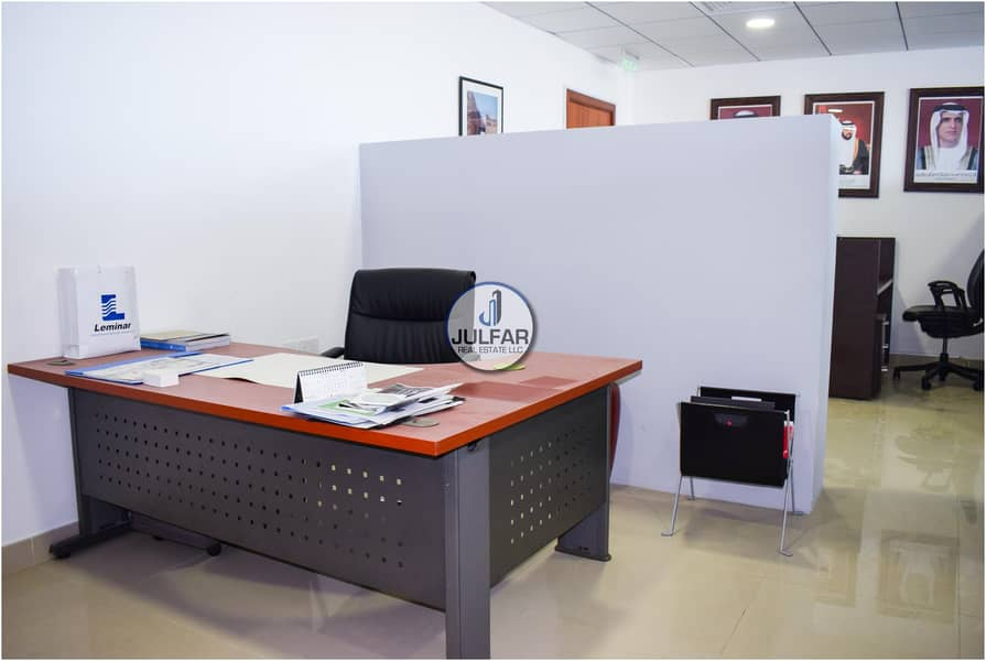 2 Fully Furnished Sea View Office FOR RENT - Julphar