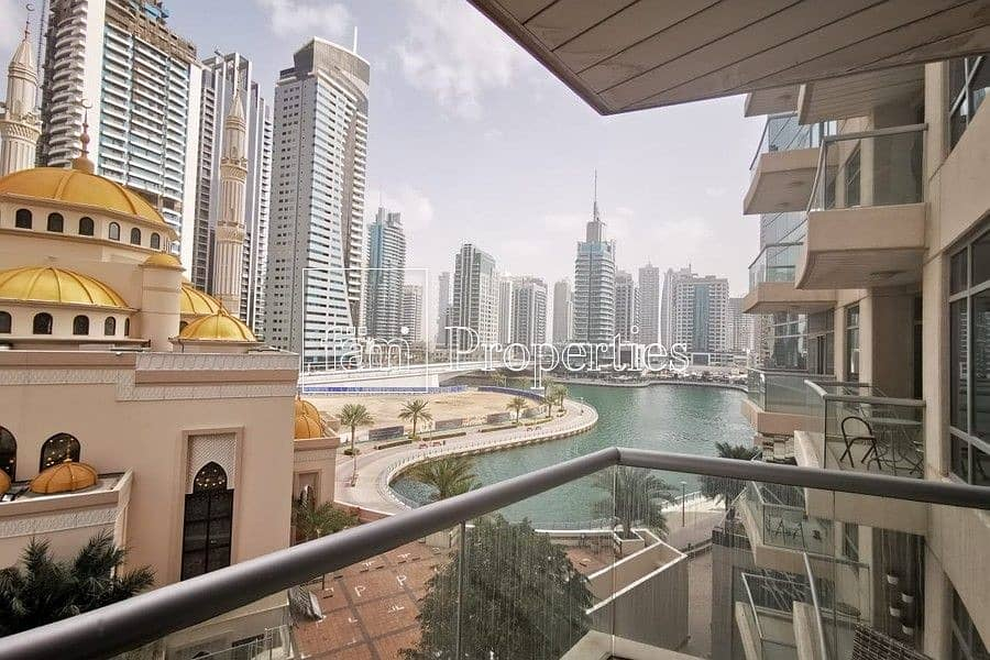Large size 1 BR with Partial sea & Marina view