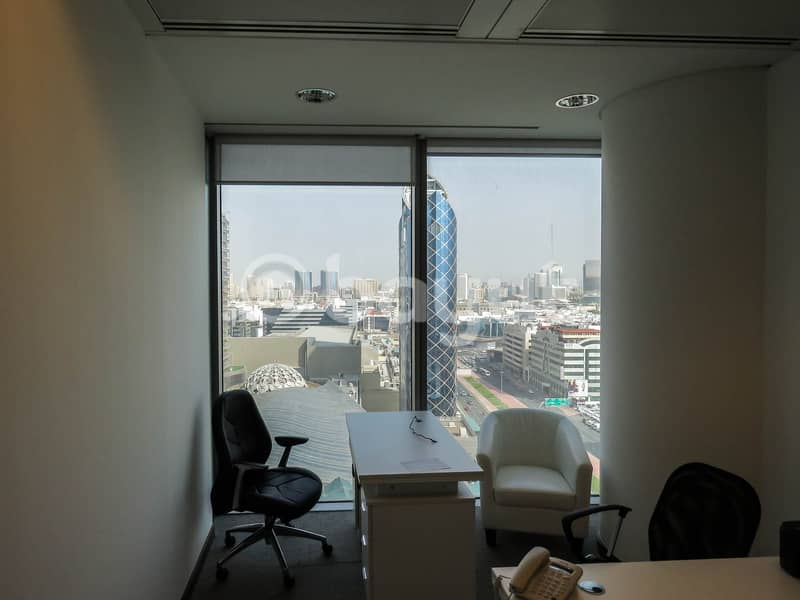2 New-Age Luxury Smart Sharing  Offices in the Heart of Dubai Surrounded by Exquisite Beauty High Floor Breathtaking View