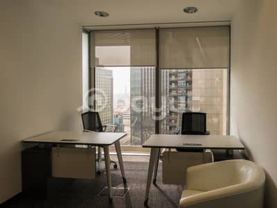 Office for Rent in Bur Dubai, Dubai - New-Age Luxury Smart Sharing  Offices in the Heart of Dubai Surrounded by Exquisite Beauty High Floor Breathtaking View