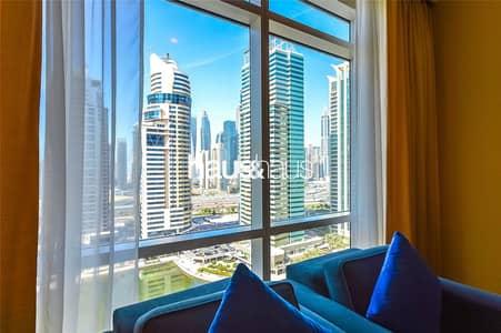 فلیٹ 1 غرفة نوم للايجار في أبراج بحيرات الجميرا، دبي - Fully Serviced | Furnished | All Inclusive