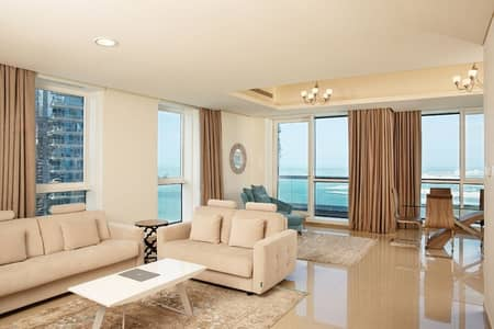 1 Bedroom Flat for Rent in Dubai Marina, Dubai - One Bedroom Deluxe- Serviced Hotel Apartment- All Bills Included- No Commission