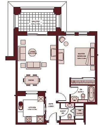 10 One Bedroom | Community Views | Rented
