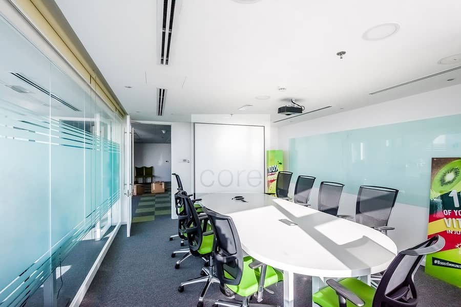 Fitted and furnished office on Prime Location