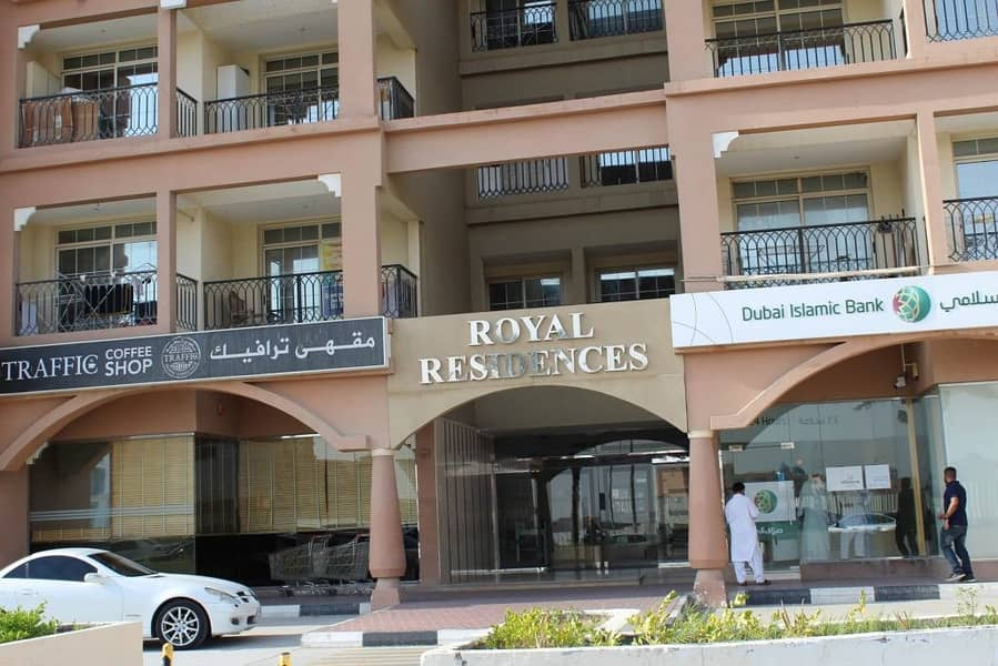 International City CBD Royal Residence large One Bedroom facilities building Rent 32,000/-