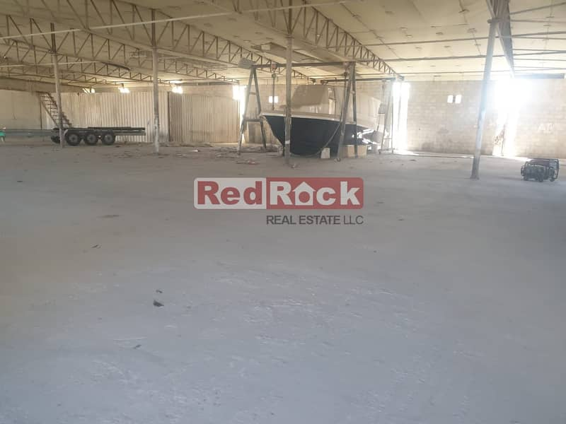 1 Only AED 9/Sqf || Al Quoz || Indep Open Land with Warehouse