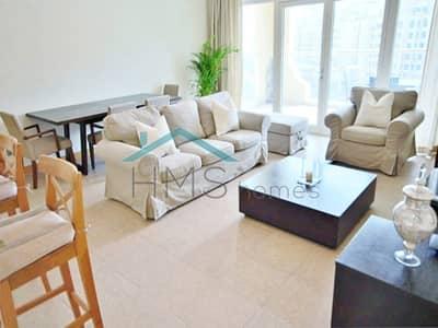 شقة 2 غرفة نوم للايجار في نخلة جميرا، دبي - Furnished 2 bedroom - LHS Shoreline D type