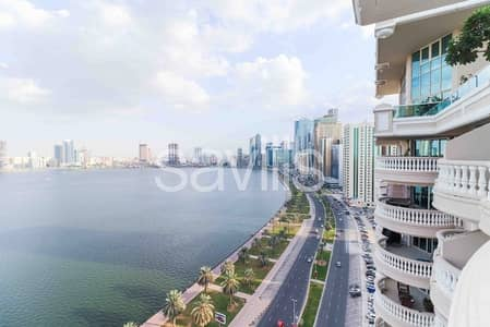 3 Bedroom Flat for Rent in Corniche Al Buhaira, Sharjah - Riviera luxurious apartment with full Al Buhairah view