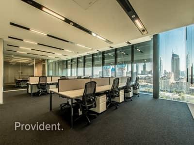 مکتب  للايجار في مركز دبي المالي العالمي، دبي - 18 Visa Allowance | Stunning Burj Khalifa View