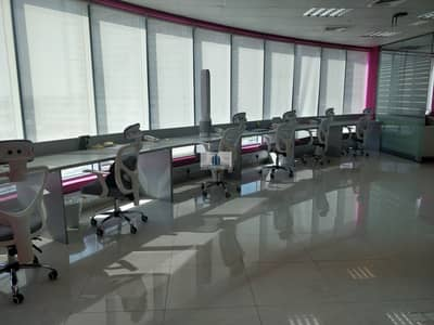 Office for Sale in Business Bay, Dubai - Rented@7.5% | Hot Distress Deal |Furnished | Partitioned