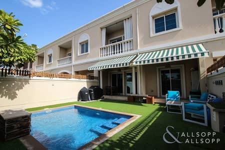 تاون هاوس 3 غرف نوم للبيع في مثلث قرية الجميرا (JVT)، دبي - Exclusive | Three Bed TH | Private Pool