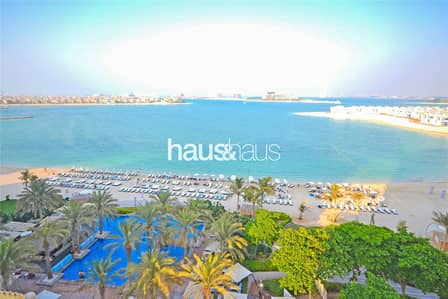 1 Bedroom Flat for Rent in Palm Jumeirah, Dubai - Full sea view | Right on the beach | Type B