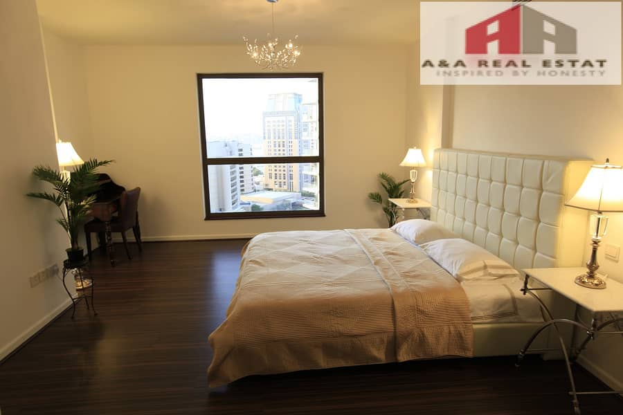 2 Sea View Specious Furnished 2 Parkings  JBR
