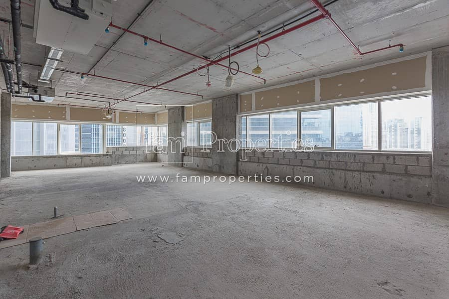 Shell and Core Office on a High Floor | Vacant