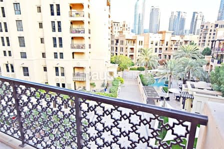 1 Bedroom Apartment for Rent in Old Town, Dubai - Available Feb | Chiller Included | Pool View