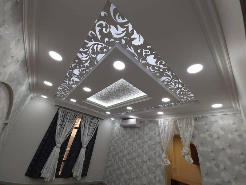Very beautifully decorated studios with wooden floors available in khalifa city B near karam al sham