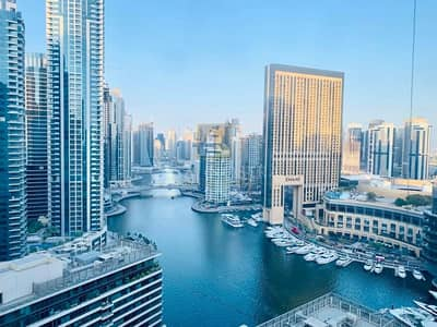 2 Bedroom Apartment for Sale in Dubai Marina, Dubai - Vacant Furnished 2BR with Balcony Full Marina View
