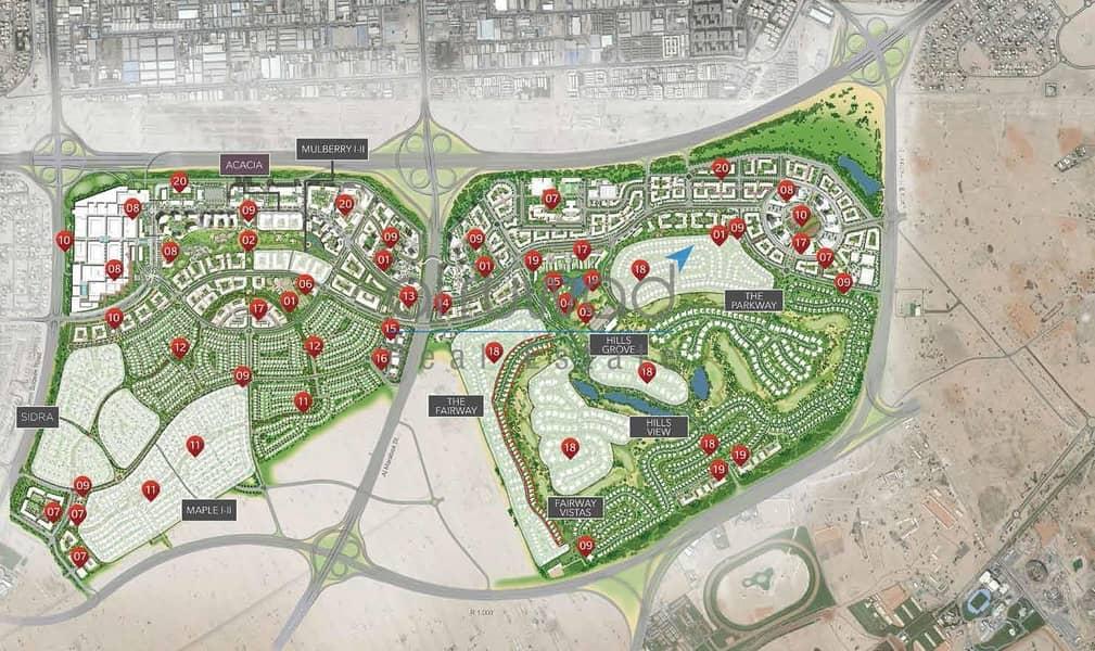 2 Residential Plot in Dubai Hills State