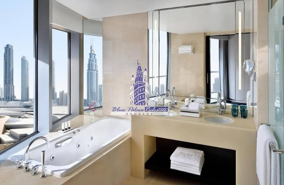 2 The Address Dubai Mall Hotel 1br w/ P. Burj Khalifa View