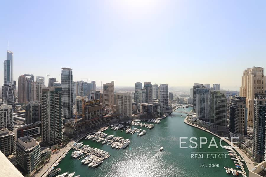 Full Marina View Upgraded 1 Bed in Al Sahab