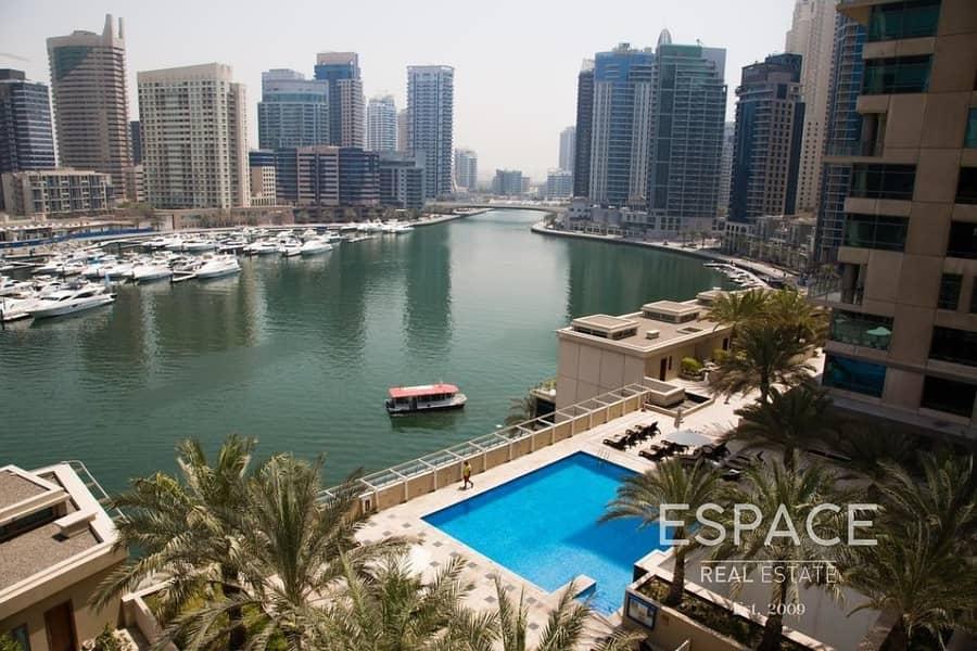 10 Full Marina View Upgraded 1 Bed in Al Sahab