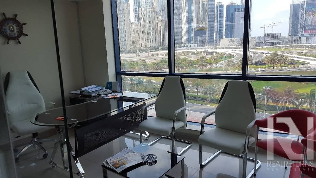2 A Full Furnished Office Full Glass Partitions