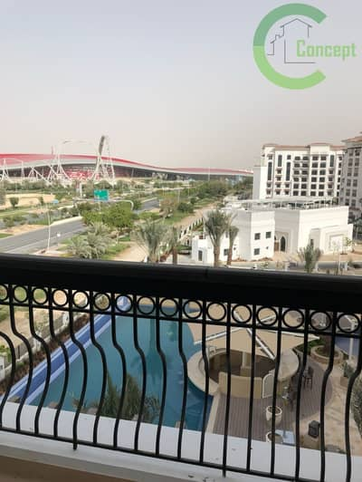 2 Bedroom Flat for Rent in Yas Island, Abu Dhabi - Partial golf and Ferrari views| Nicely finished.