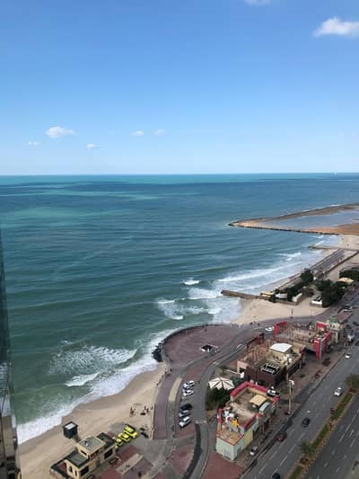 2 Bedroom Apartment for Rent in Corniche Ajman, Ajman - Spectacular see view for 2 bedroom in Ajman One Towers