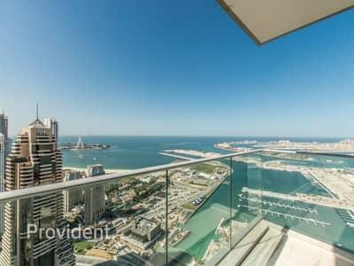 2 Bedroom Apartment for Rent in Dubai Marina, Dubai - High Floor Fendi with Spectacular Sea Views