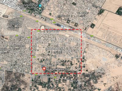 120000sqfts land with three palaces in Khawaneej