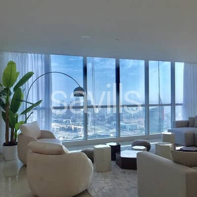 4 Bedroom Flat for Rent in Dubai Marina, Dubai - Exquisitely furnished throughout|Sea view duplex