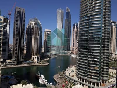 2 Bedroom Flat for Rent in Dubai Marina, Dubai - 2BR  Full Marina and Pool View  Next to Metro Tram and Walk
