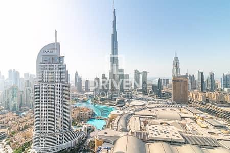 شقة 2 غرفة نوم للبيع في وسط مدينة دبي، دبي - High Floor 05 Layout Burj And Sea View .