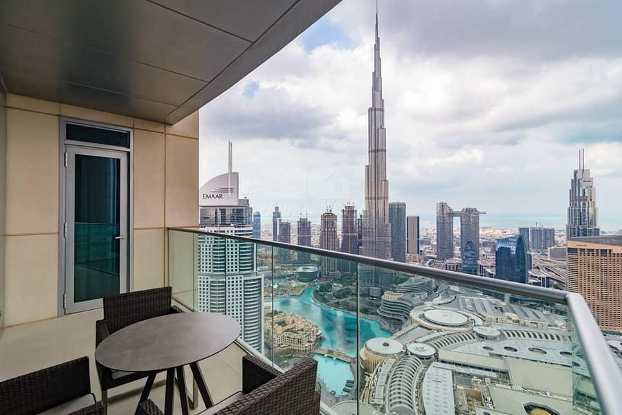 2 3 Bedroom with Burj Khalifa View | High Floor