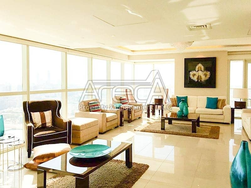 2 Amazing Sea Front Penthouse | Deluxe 5 Bed Furnished Duplex ! Rak Tower