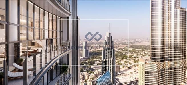 4 Bedroom Apartment for Sale in Downtown Dubai, Dubai - VIEW OF BURJ KHALIFA WITH SIGNATURE OFFER