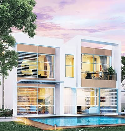 4 Bedroom Villa for Sale in Akoya Oxygen, Dubai - 4 BEDROOM MAIDS ROOM STUNING VILLA LUXURY QUALITY FULL GLASS WINDOWS RAINFOREST GOLF COURSE COMMUNITY IN DUBAI