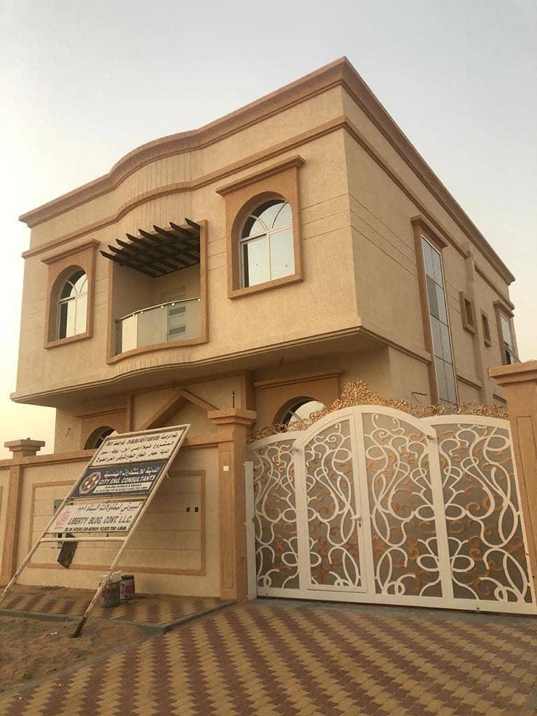 For sale new villa in Ajman, Al Hilo 2, excellent location, close to all services