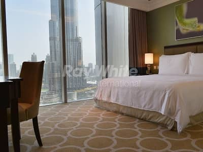 2 Bedroom Apartment for Rent in Downtown Dubai, Dubai - Service Apartment w/  Fountain & Burj Khalifa View