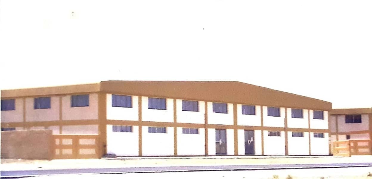 14750 sqft ground floor warehouse with 3000 messaine with 400kva electricity on main road ajman indu