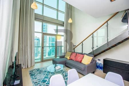 فلیٹ 1 غرفة نوم للبيع في مركز دبي المالي العالمي، دبي - Vacant | Furnished 1 Bedroom Duplex | Sea View