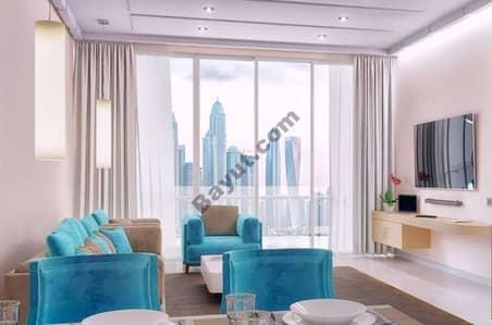 شقة فندقية 1 غرفة نوم للبيع في نخلة جميرا، دبي - Living room