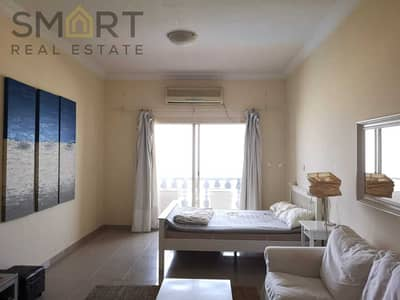 Specious  furnished & tenanted Marina studio apartment  facing the sea is located in Al Hamra Village.