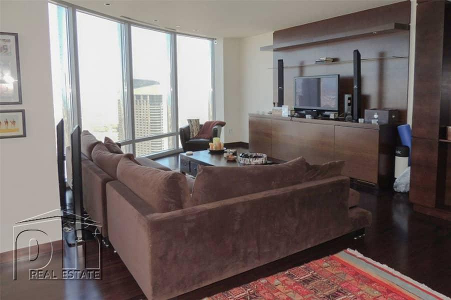 2 45-floor Apt | Sea & Sh.Zayed Road view.