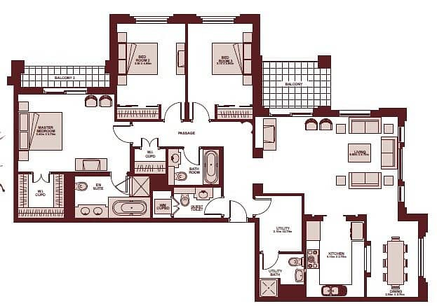 14 Kamoon | 3 Bedroom And Maids | Blvd View
