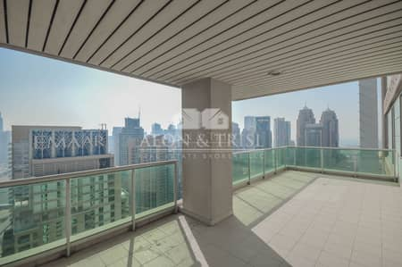 4 Bedroom Flat for Rent in Dubai Marina, Dubai - Golf course and Marina view | Largest unit |Vacant