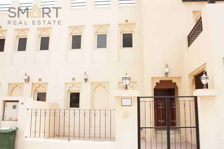 An upgraded golf course 4BR townhouse is located in Al Hamra Village available for sale with an attractive price.
